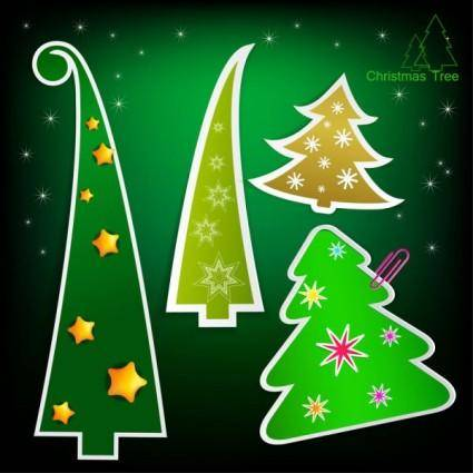 free vector Christmas tree tags 03 vector