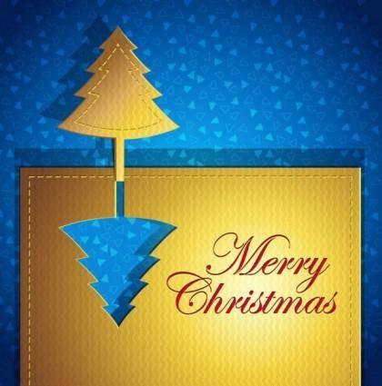 free vector Creative christmas cards 05 vector