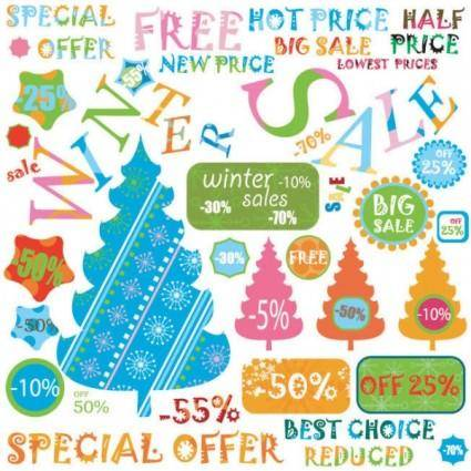 free vector Christmas label 04 vector