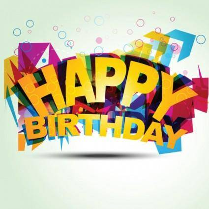 free vector Happy birthday elements 07 vector