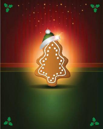 free vector Beautiful christmas label 04 vector