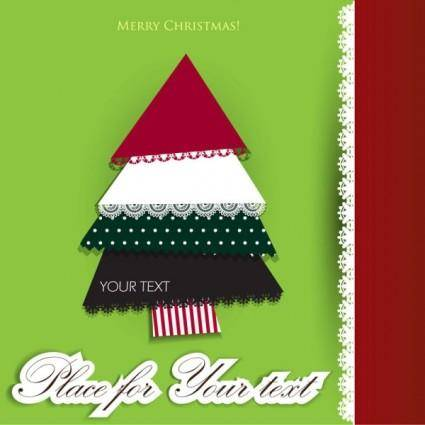 free vector Lace christmas tree puzzle 03 vector