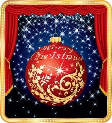 free vector Christmas ball 01 vector