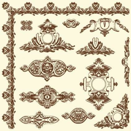 free vector European retro lace 12 vector