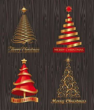 Creative christmas trees vector
