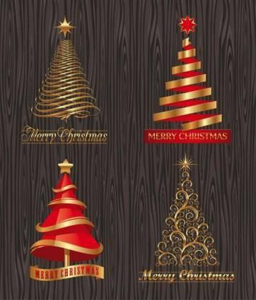 free vector Creative christmas trees vector