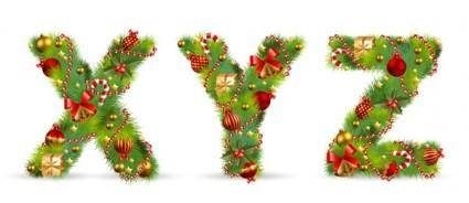free vector Christmas ornaments composed of letters 05 vector