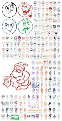 free vector Christmas ornaments and expression vector