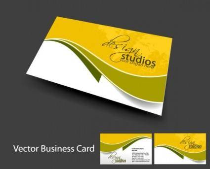 free vector Brilliant dynamic business card template 05 vector