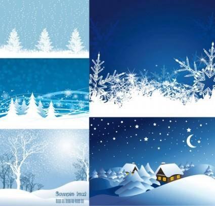 Vector christmas snow