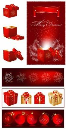 Gorgeous christmas gift vector
