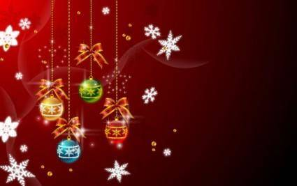 free vector Christmas hanging balls vector 2