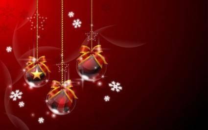 free vector Vector 3 christmas ball hanging