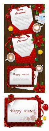 Desktop christmas card vector