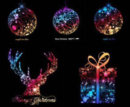 free vector Symphony of christmas graphics vector