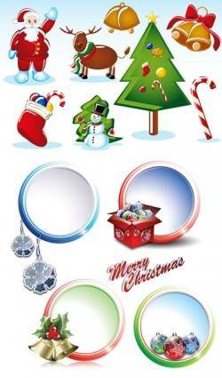 2 sets of christmas vector