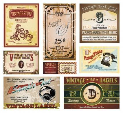 free vector Vintage wine label collection 05 vector