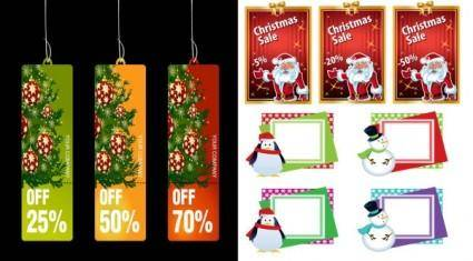 Christmas business promotional template vector