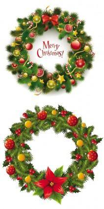 free vector Christmas wreath 2 vector