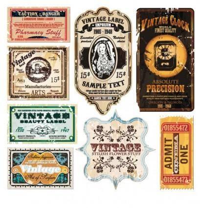 free vector Vintage wine label collection 06 vector