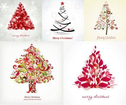 Fun christmas tree vector