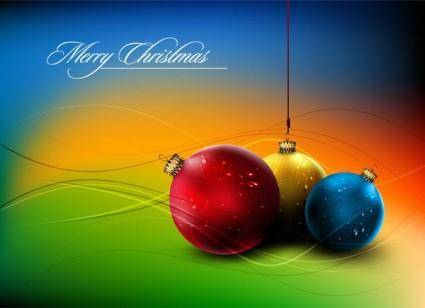 Christmas ball hanging crystal style vector 5