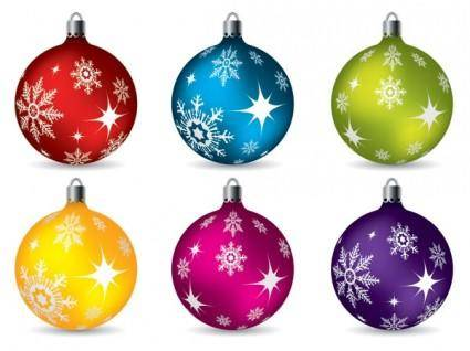 free vector Vector colorful christmas balls hanging