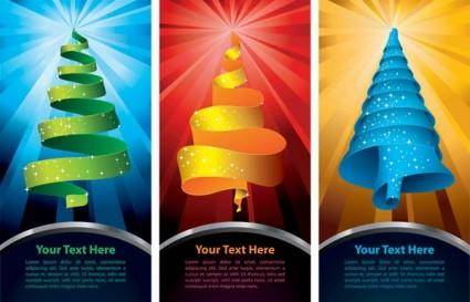 free vector Special christmas tree vector