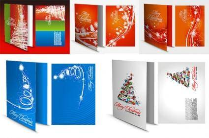 free vector Christmas greeting card template vector