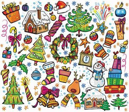 free vector Pink lovely christmas element vector