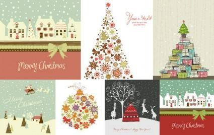 Lovely christmas theme vector