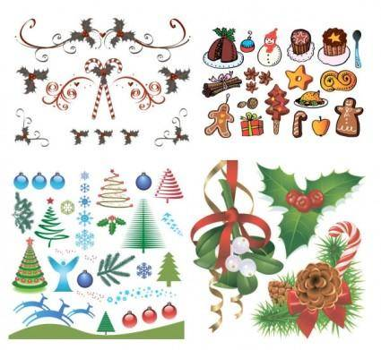 Christmas a group of vector elements vector