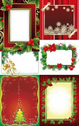 Exquisite christmas photo frame vector