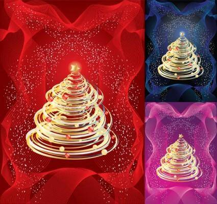free vector Tornadostyle christmas tree vector