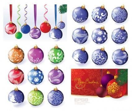 free vector Vector christmas ball hanging