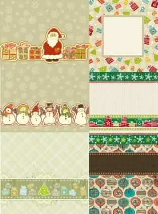 free vector Lovely christmas element vector