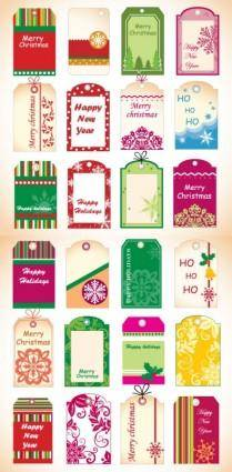 free vector Christmas tag vector
