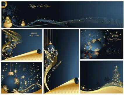 free vector Christmas luxury elements vector