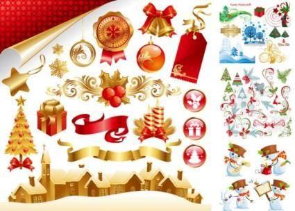 free vector Late vector beautiful christmas