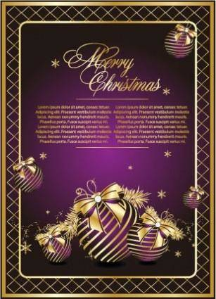 free vector Golden christmas theme vector 1