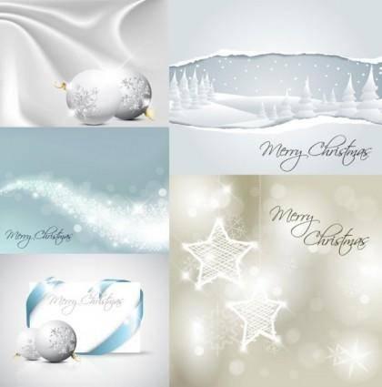 White christmas vector