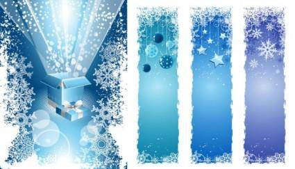 free vector Christmas snowflake decorations vector