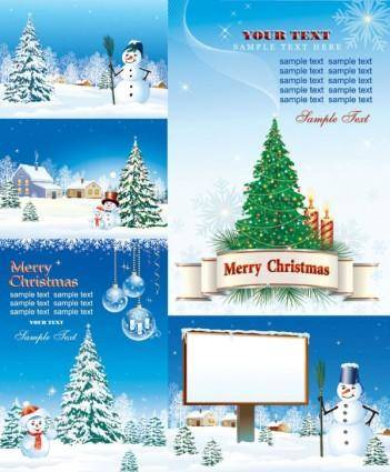 free vector Vector christmas snow