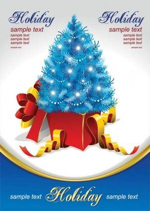 free vector Gift christmas tree vector