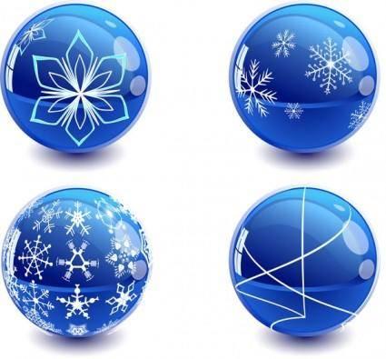 free vector Christmas crystal ball vector