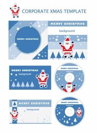 free vector Christmas element vector templates