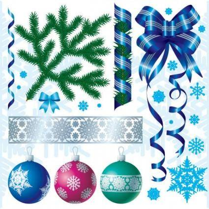 free vector Christmas decorations vector