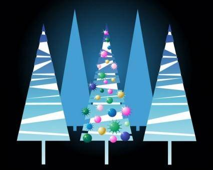 Lovely christmas tree vector