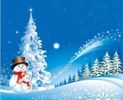 free vector Christmas snowman snow vector