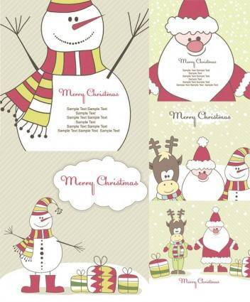 free vector Cute christmas vector illustration